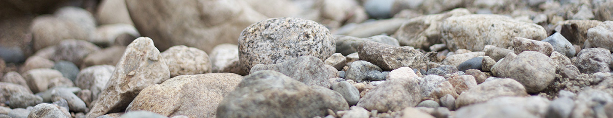 Riverbed stones